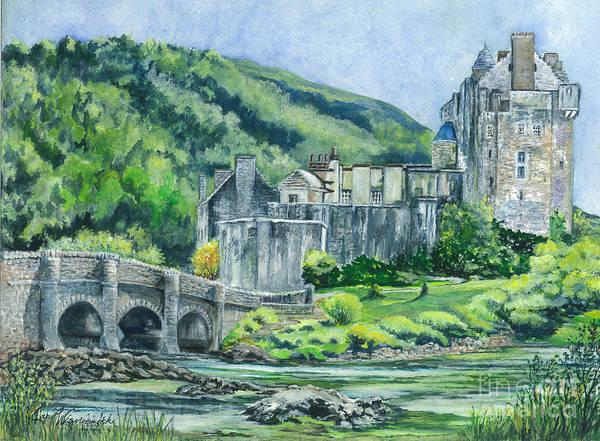 Eilean Donan Castle Painting - Eilean Donan Castle In Scotland  by Carol Wisniewski