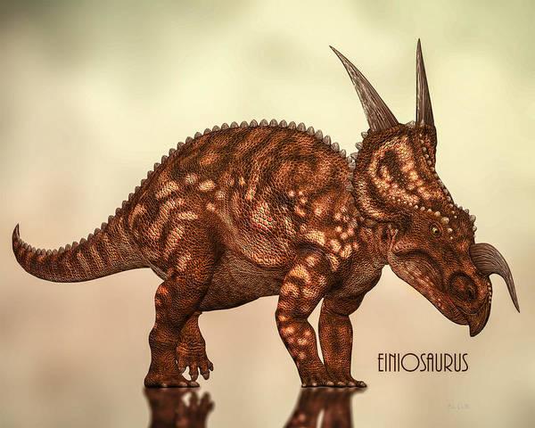 Dinosaurs Photograph - Einiosaurus by Bob Orsillo