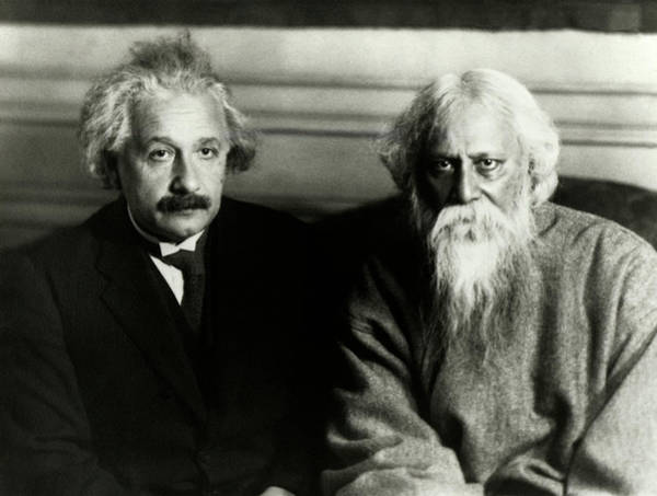 Einstein Wall Art - Photograph - Einstein And Tagore by Emilio Segre Visual Archives/american Institute Of Physics