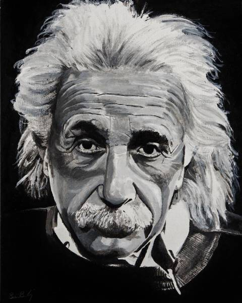 Einstein Wall Art - Painting - Einstein  by Brian Broadway