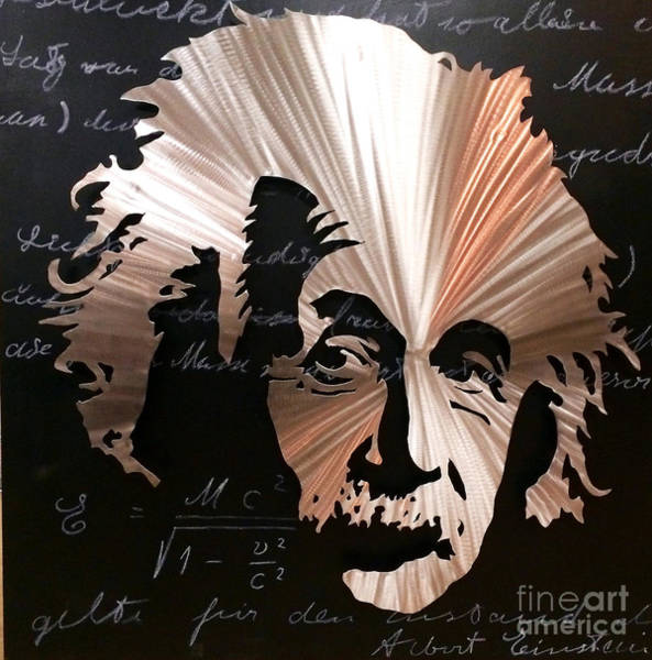 Mixed Media - Einstein by CK Mackie