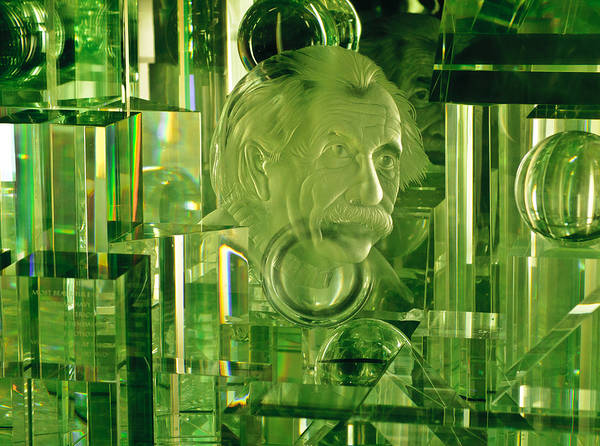Photograph - Einstein In Crystal - Green by Christi Kraft