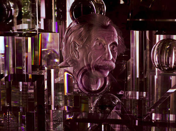 Photograph - Einstein In Crystal - Purple by Christi Kraft