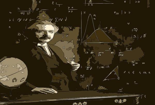 Mass-energy Equivalence Wall Art - Digital Art - Einstein by Jessi Tesla
