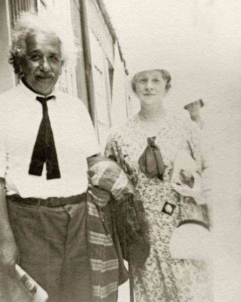 Nobel Wall Art - Photograph - Einstein On A Ship by American Philosophical Society
