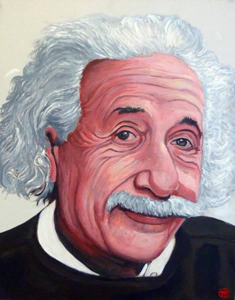Painting - Einstein by Tom Roderick