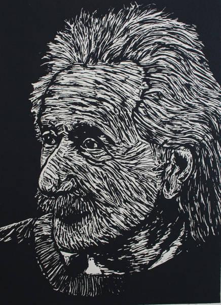 Drawing - Einstein by William Cauthern