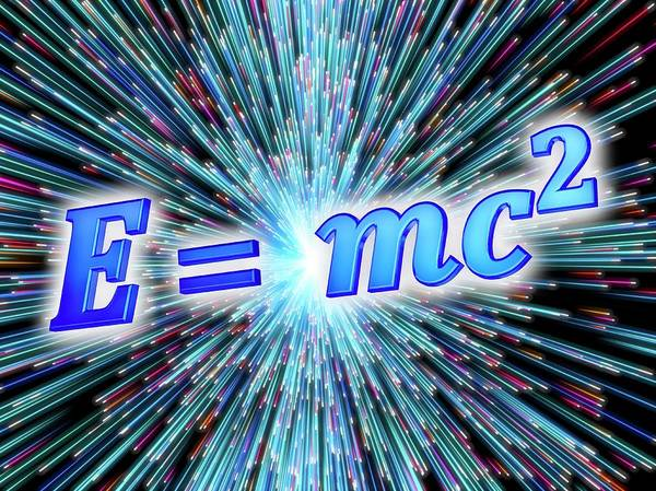 Equation Wall Art - Photograph - Einstein's Mass-energy Equation by Alfred Pasieka