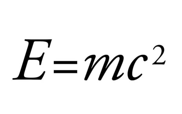 Equation Wall Art - Photograph - Einstein's Mass-energy Equation by Science Photo Library