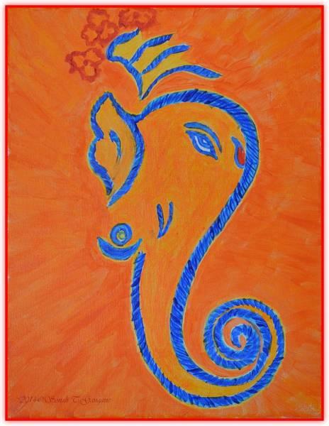 Ganesh Chaturthi Painting - Ekadrishta by Sonali Gangane