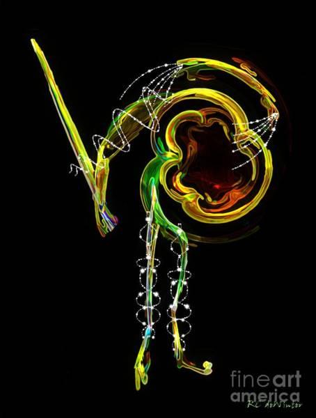 Digital Art - El Asesino En Su Traje De Luces by RC DeWinter
