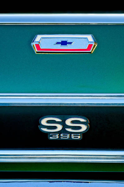Photograph - El Camino 386 Emblems by Jill Reger
