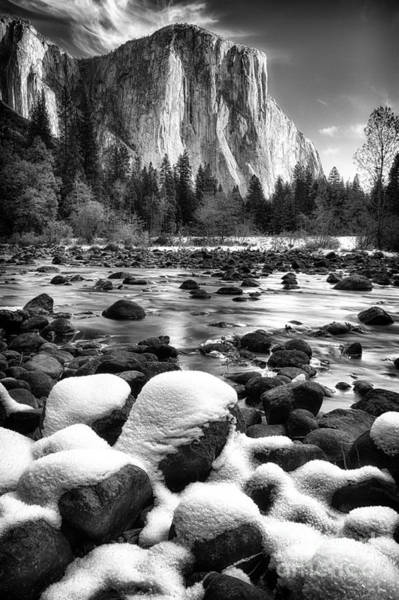 El Cap And Snow Art Print