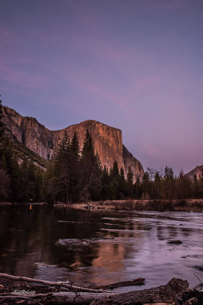 Merced River Photograph - El Capitan After Sunset by Bill Roberts