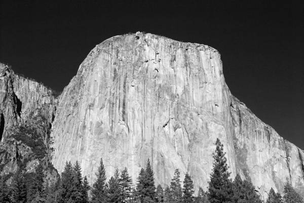 Merced River Photograph - El Capitan Black And White by Twenty Two North Photography