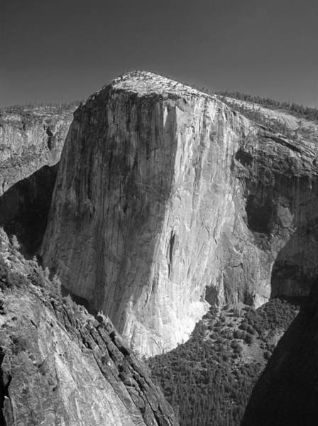 106663-el Capitan From Higher Cathedral Spire, Bw Art Print