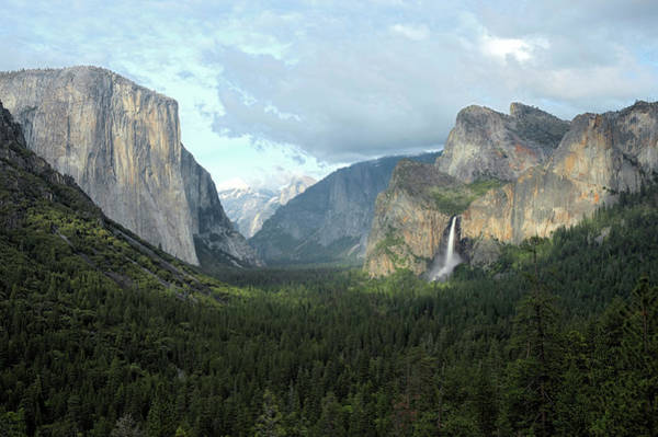 Resting Photograph - El Capitan Left, Clouds Rest In The by Doug Steakley
