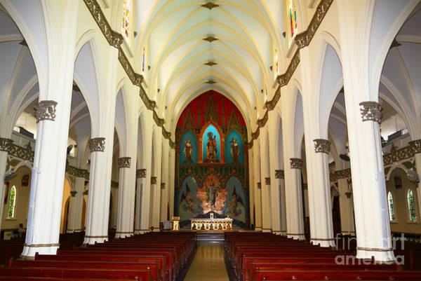 Photograph - El Carmen Church Interior Panama City by James Brunker