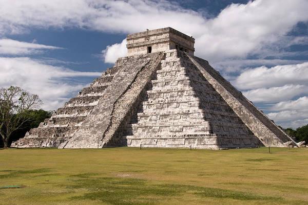 Yucatan Wall Art - Photograph - El Castillo, Pyramid Of Kukulcan by Dennis K. Johnson