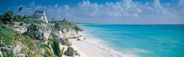 Quintana Roo Photograph - El Castillo, Quintana Roo Caribbean by Panoramic Images