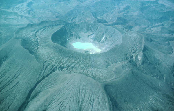Volcanic Craters Photograph - El Chichon Crater After Eruptions by Science Photo Library