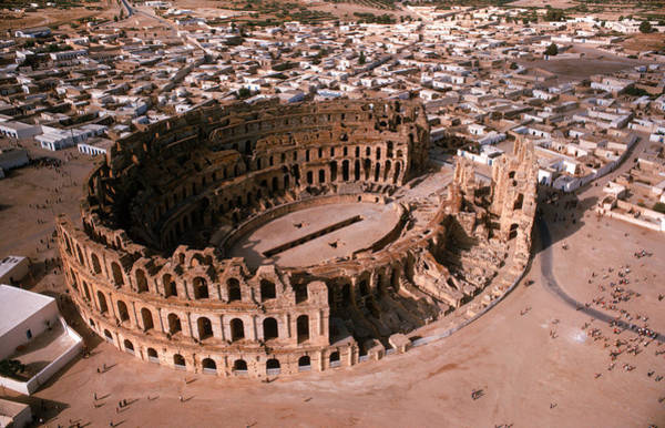 El Jem Photograph - El Djem Coliseum, Tunisia by Brian Brake