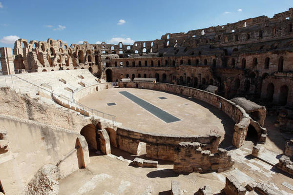 Roman Wall Photograph - El Djem, Mahdia, Tunisia by Latitudestock - Dennis Stone