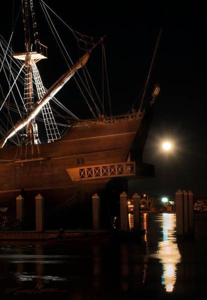 El Galeon Full Moon Rising Art Print
