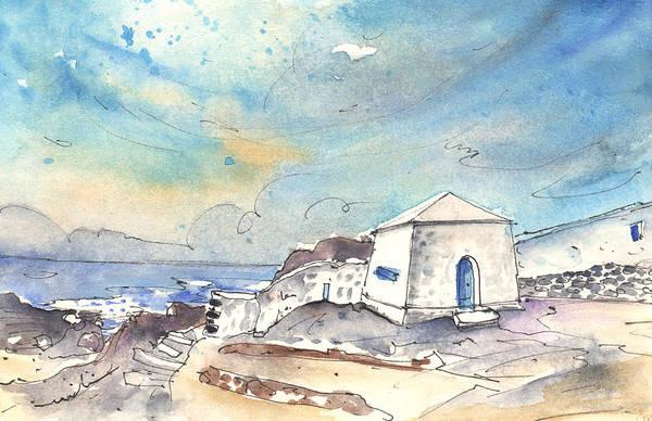 Painting - El Golfo In Lanzarote 01 by Miki De Goodaboom