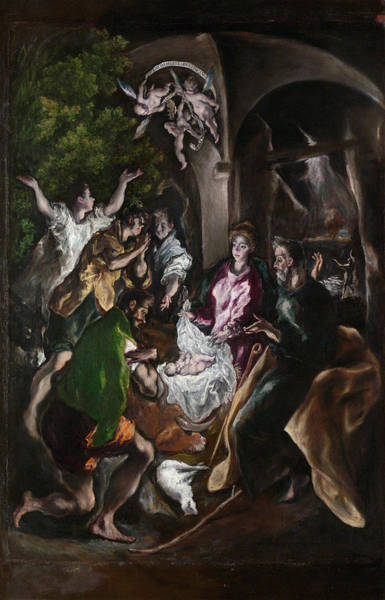 Wall Art - Painting - El Greco The Nativity, C1577 by Granger