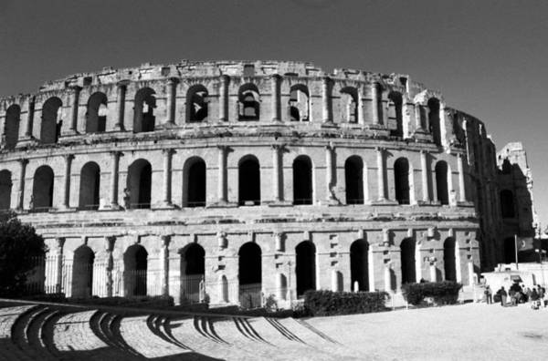 Photograph - El Jem's Coloseum Bw by Donna Corless