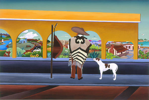 Mariachi Painting - El Mariachi by Raul Del Rio
