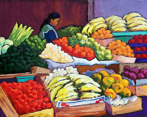 Candy Apples Wall Art - Pastel - El Mercado by Candy Mayer
