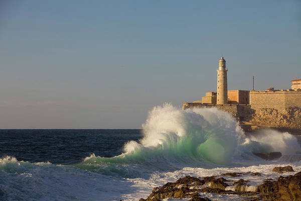 Malecon Wall Art - Photograph - El Morro Castle And Pounding Waves On by Brent Winebrenner