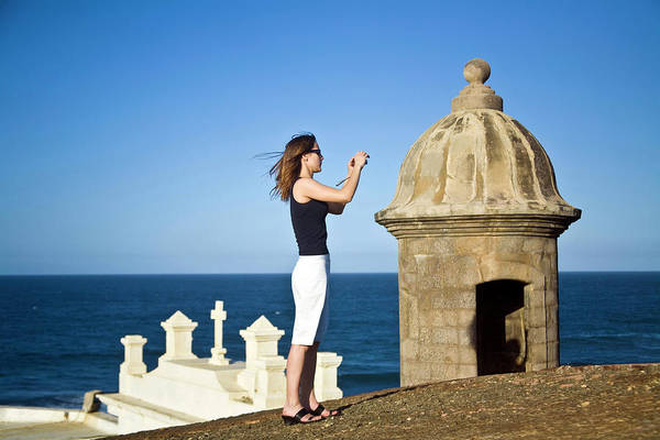 Oceanfront Photograph - El Morro Fortress And Church by Miva Stock