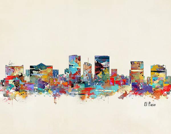 El Paso Wall Art - Painting - El Paso Texas by Bri Buckley