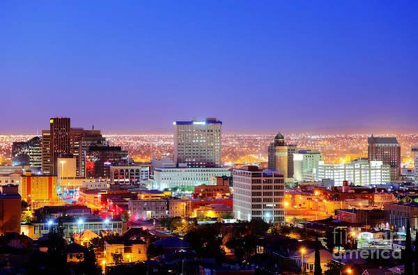 Downtown El Paso Photograph - El Paso Texas by Denis Tangney Jr