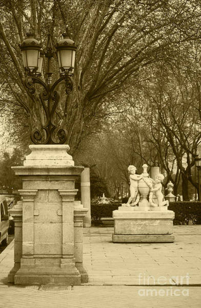 Prado Photograph - El Prado Boulevard Madrid Spain by James Brunker