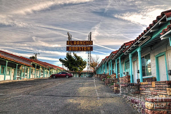 Photograph - El Rancho Barstow by Eddie Yerkish