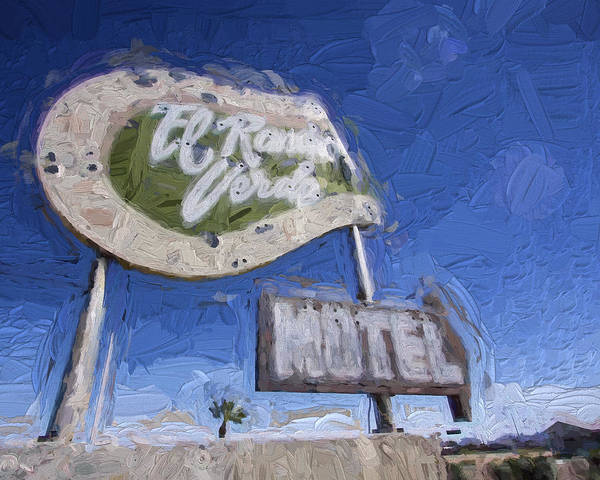 Horse Shoe Digital Art - El Rancho Verde Motel by Vivian Frerichs