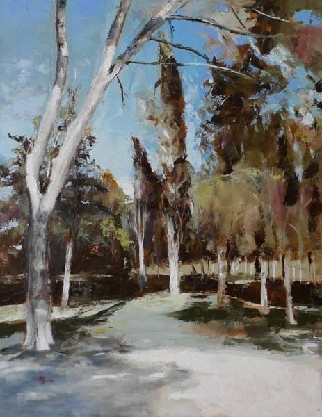 Painting - El Retiro_2 Madrid by Karina Plachetka