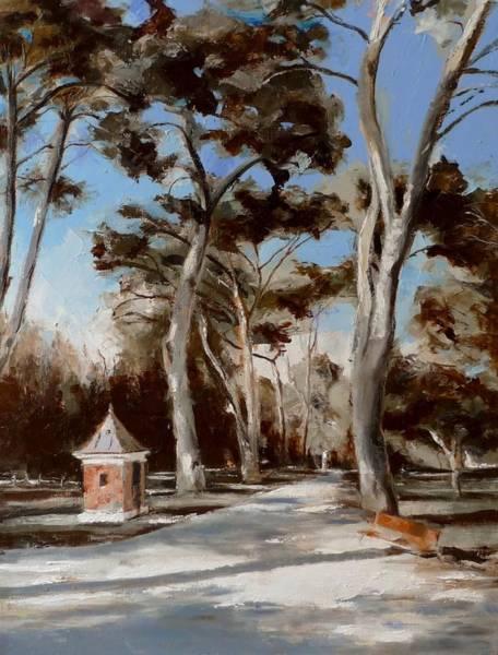 Painting - El Retiro_3 Madrid by Karina Plachetka