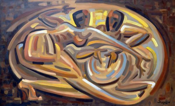 Drum Circle Wall Art - Painting - El Reto by Samuel Lind