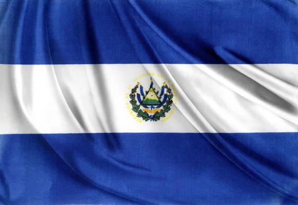 El Salvador Photograph - El Salvador Flag by Les Cunliffe