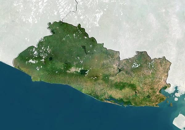El Salvador Photograph - El Salvador by Planetobserver/science Photo Library