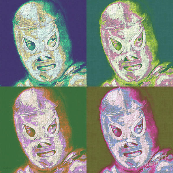 Digital Art - El Santo The Masked Wrestler Four 20130218 by Wingsdomain Art and Photography