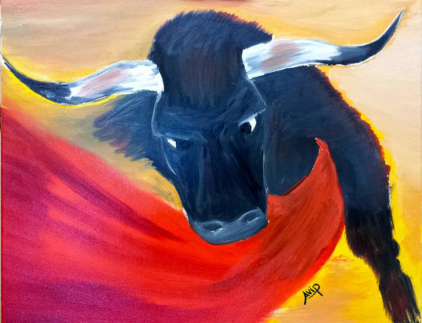Avi Painting - El Toro by Avishai Avi     Peretz