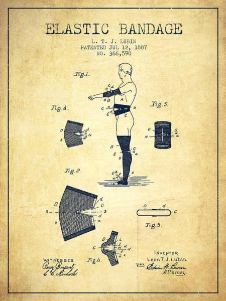 Bandage Wall Art - Digital Art - Elastic Bandage Patent From 1887 - Vintage by Aged Pixel