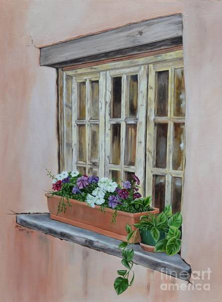 Mary Rogers Painting - Elayne Look Through The Window by Mary Rogers