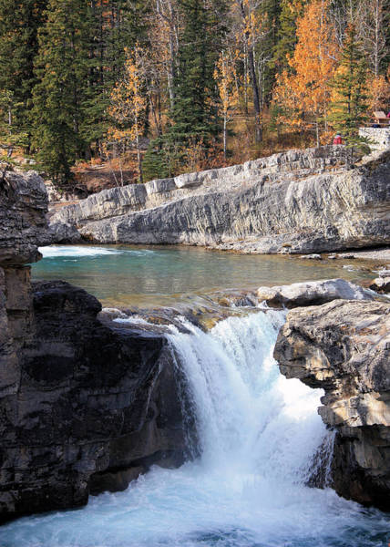 Photograph - Elbow Falls In Autumn by Gerry Bates